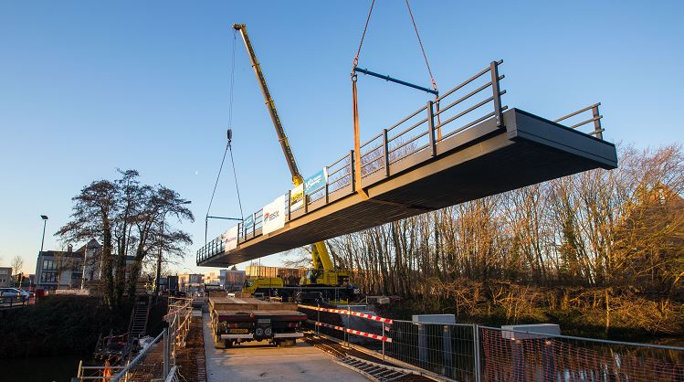 's Werelds langste composietbrug komt naar Brugge