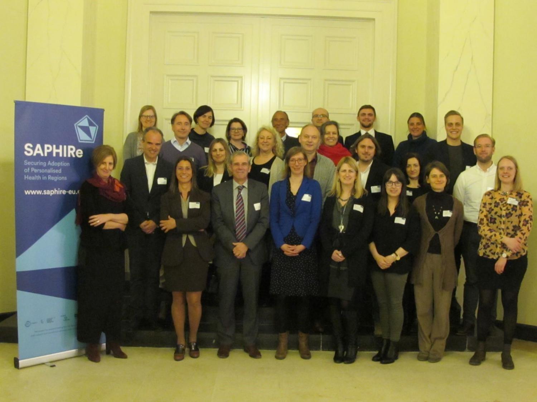 groepsfoto gepersonaliseerde geneeskunde: eerste interactieve workshop SAPHIRe